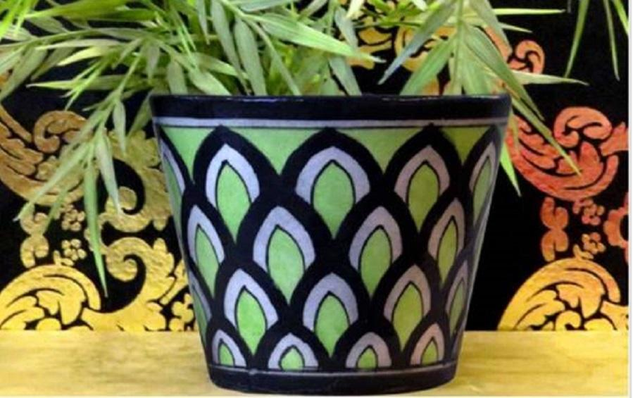 Green Desktop Planter- Small - Planters - indic inspirations