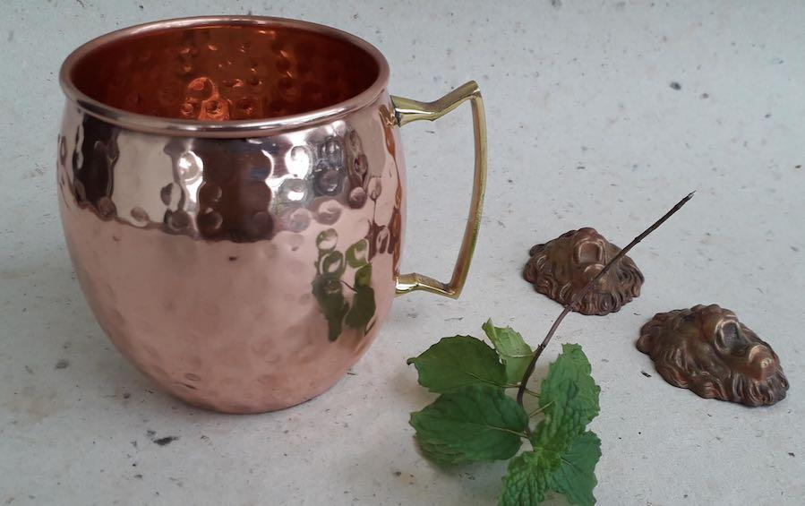 Hammered Copper Moscow Mule Mug - Copper Mugs - indic inspirations