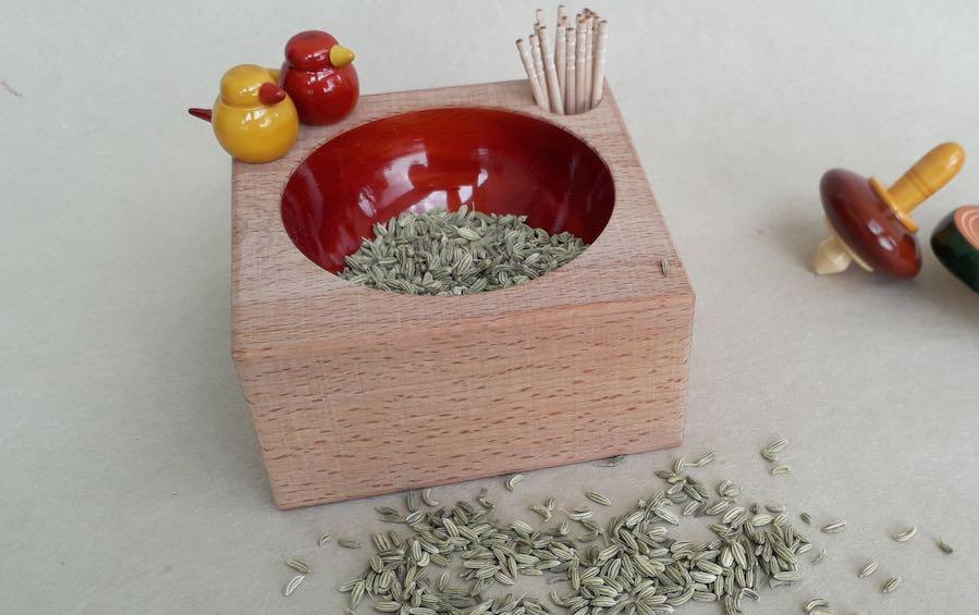 HERB – Tooth pick holder - containers - indic inspirations
