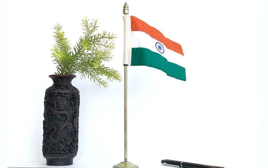 Indian Table Flag Large - Miniature table flags - indic inspirations
