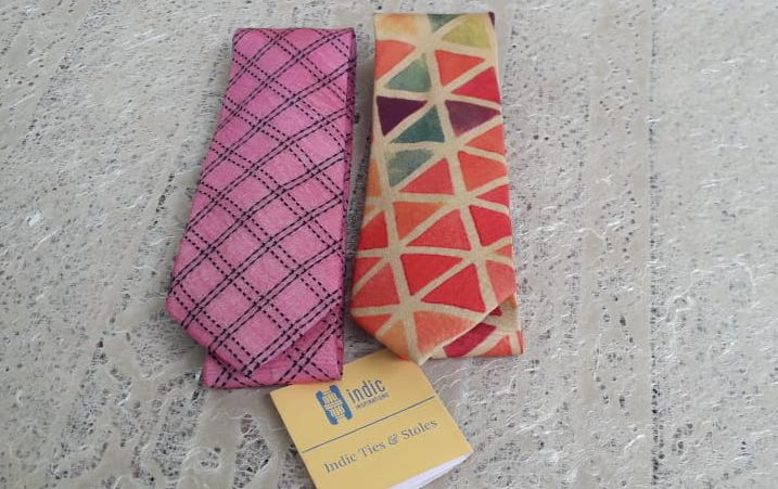 INDIC GEOMETRIC PATTERNS - TIE SET - NECKTIES - indic inspirations