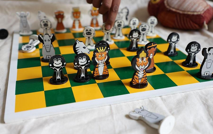JUNGLE BOOK CHESS - Set for Kids - Board Games - indic inspirations