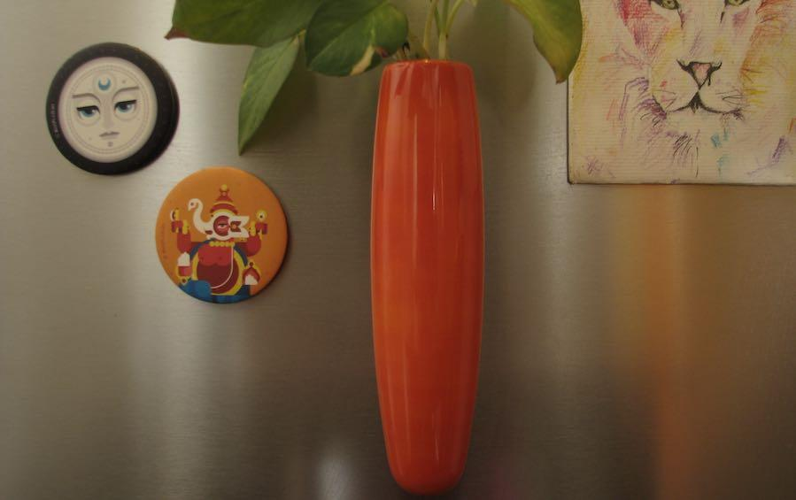 MAGNETIC FRIDGE VASE - vases - indic inspirations