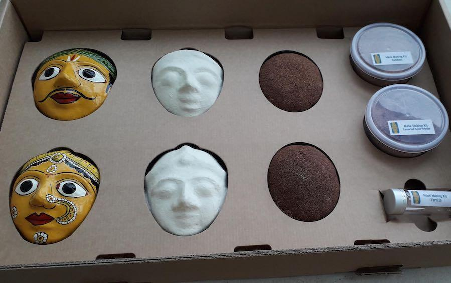 MASK MAKING Workshop Kit #WFH Set (L) - Workshop sets - indic inspirations