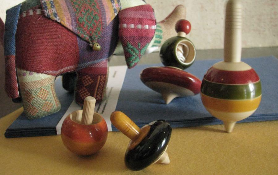 MERRY TOPS - WOODEN TWIRLS! - Wooden Toy - indic inspirations