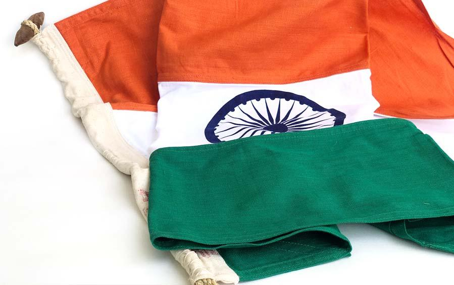 National Flag 3 ft x 2 ft - Khadi - Flags - indic inspirations