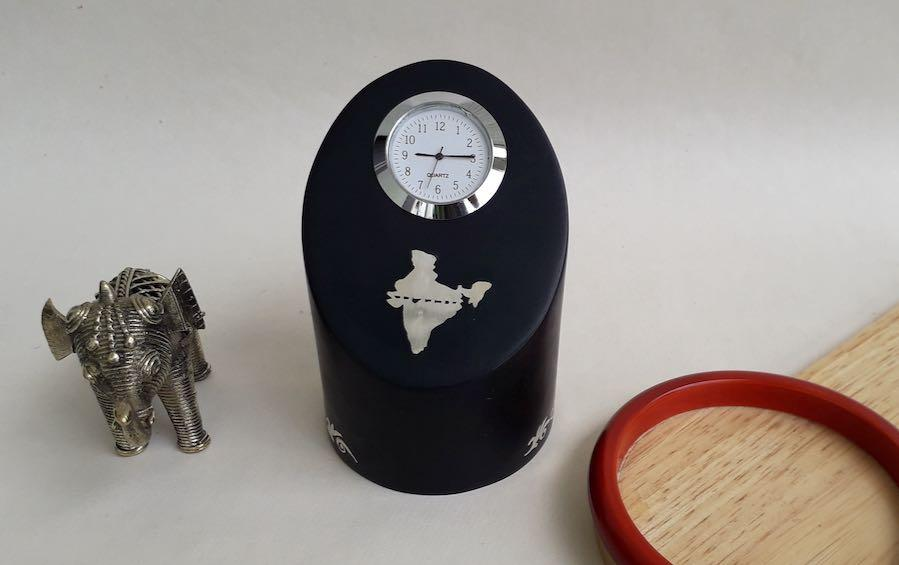 O Point - UJJAIN Prime Meridian Clock - Desk clocks - indic inspirations