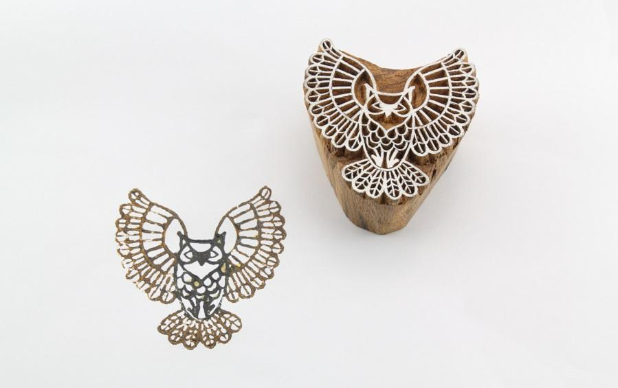 Owl Wooden Stamp - Block Printers - indic inspirations