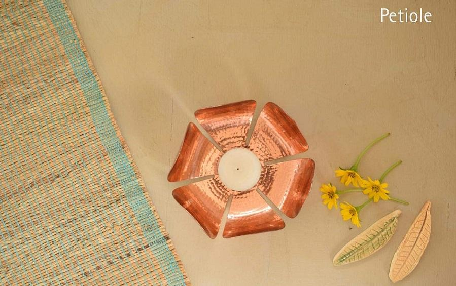 PETIOLE - T-LIGHT - Candle-holders - indic inspirations