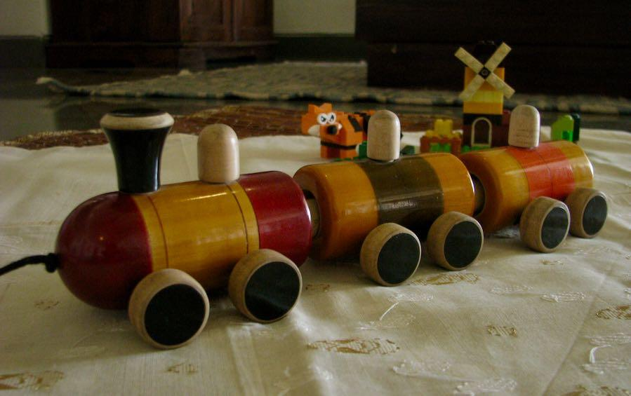 POM POM RAIL PULL ALONG - Wooden Toys - indic inspirations