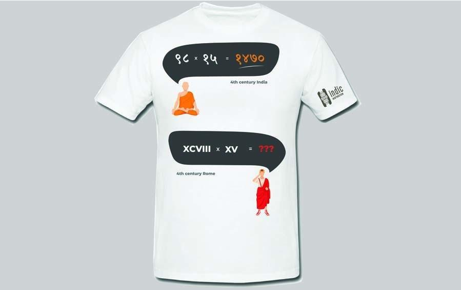 ROMAN COUNTING - T-Shirt - T-Shirts - indic inspirations