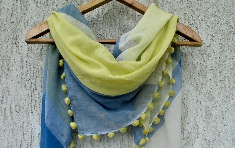 SCARF – BENGAL HANDLOOM COTTON - Scarves - indic inspirations