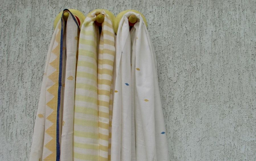 SET OF 3 SCARVES – YELLOW - Scarves - indic inspirations