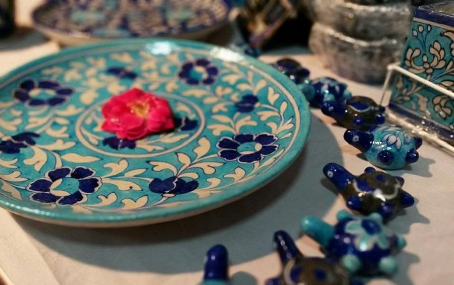 Small Wall Plate- Light Blue - Wall plates - indic inspirations