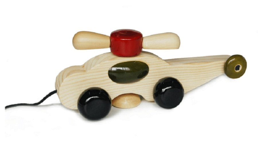 SPINNO - WOODEN HELICOPTER - Wooden Toy - indic inspirations