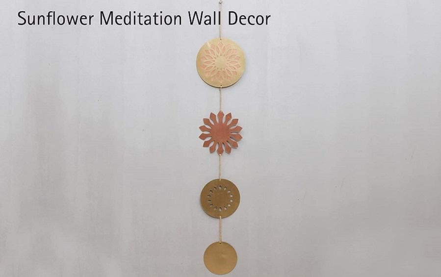 Sunflower Meditation Wall Decor - Hanging décor - indic inspirations