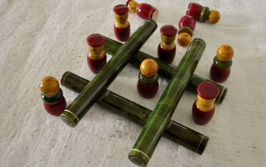 TIC TAC TOE - WOOD - Wooden Toy - indic inspirations