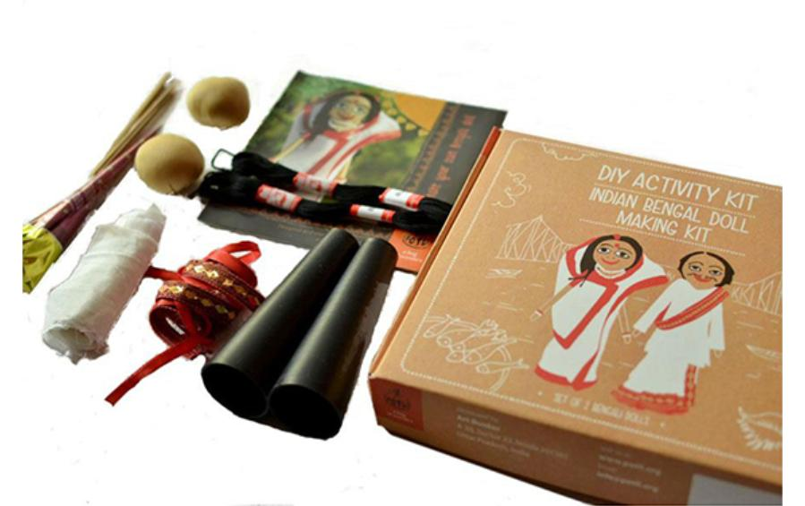 Traditional Doll Making Craft Kit - Bengal - Craft Kit - indic inspirations