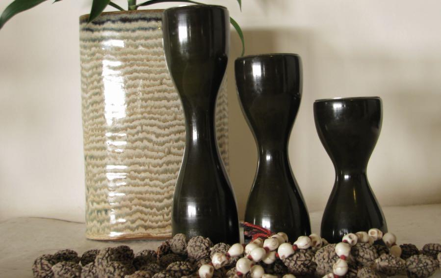 Triune - Candle Holder - Green - Candle holders - indic inspirations