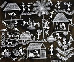 WARLI VILLAGE PAINTING - paintings - indic inspirations