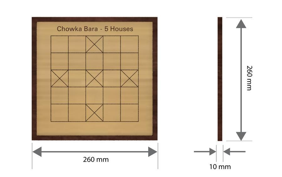 Wooden Chaukabara 5 Houses - Board Games - indic inspirations