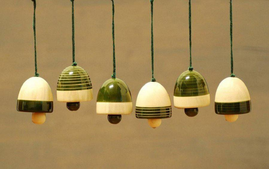 Wooden Christmas Decor : YULTIDE BELLS – Green (Set of Six) - Décor hanging - indic inspirations