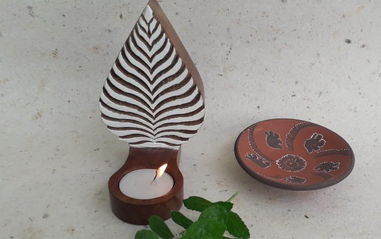 Wooden Tealight Holder - T-Light Holders - indic inspirations
