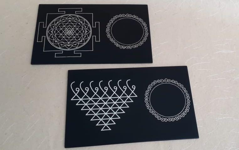 YANTRA COASTERS - Set of 2 - Coasters - indic inspirations