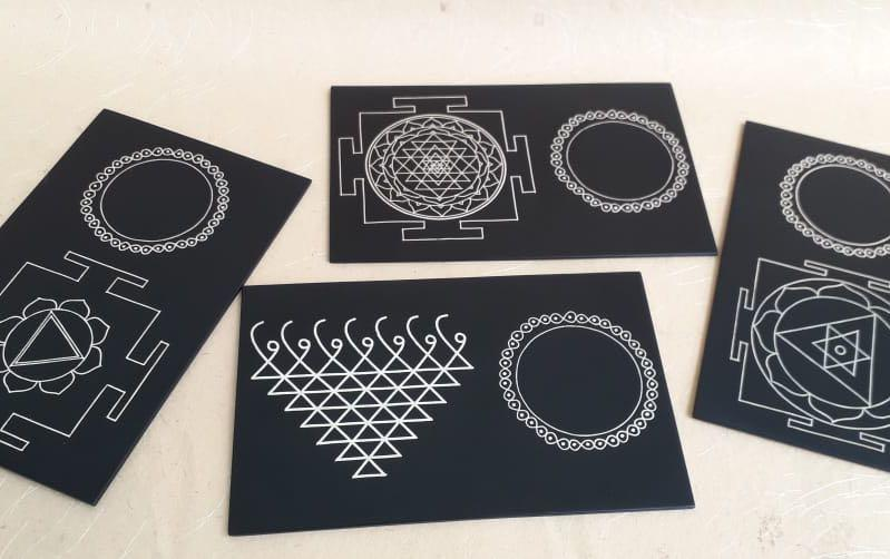 YANTRA INSPIRED COASTERS - Set of 4 - Coasters - indic inspirations