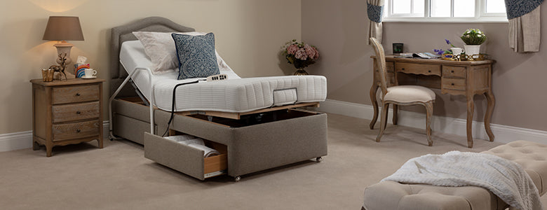 Adjustable Electric Bed in use
