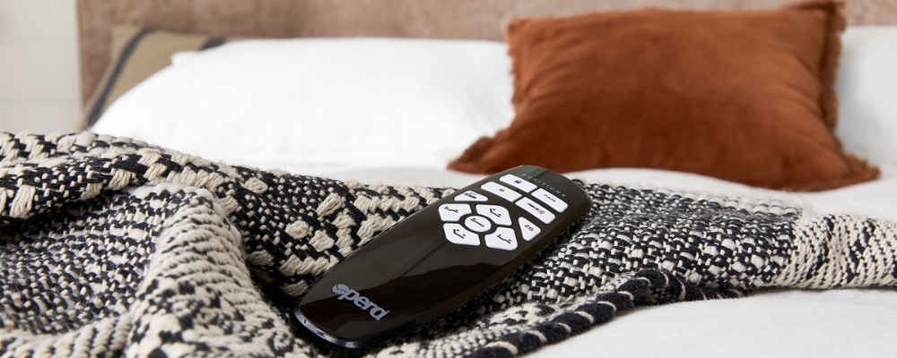Cushion and blanket with adjustable bed handset