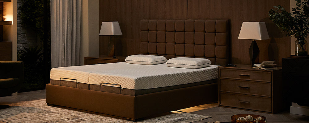 Opera adjustable bed with under bed light