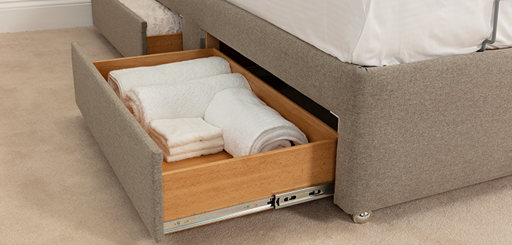 Auriga Adjustable Bed with foot-end drawers