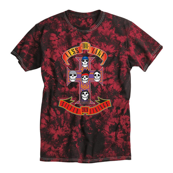 LTJ GNV Red Crystal Tie-Dyed T-Shirt