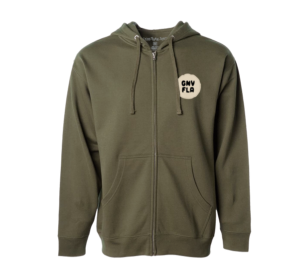 Less Than Jake Army Embroidered Script Zip Hood