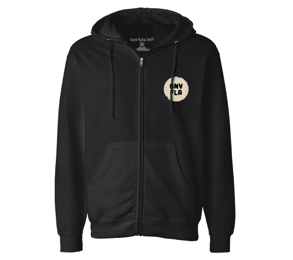 Less Than Jake Black Embroidered Script Zip Hood