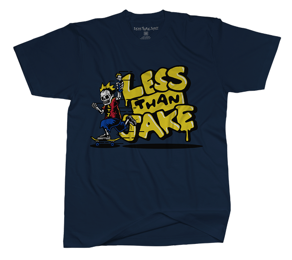 Less Than Jake Navy Skater T-Shirt