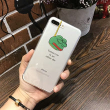 Load image into Gallery viewer, Ultra Slim Case For iphone 8 7 6 6S Plus Cartoon Soft Clear TPU Cool Funny Frog Pattern For iphone X 11 Pro XS Max XR Case Cover