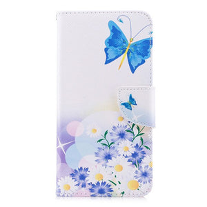 For Coque Xiaomi Redmi 7A Case, Leather Case For Fundas Xiaomi Redmi 7 Case Redmi 7A Cover Flip wallet Painted Stand Phone Cases