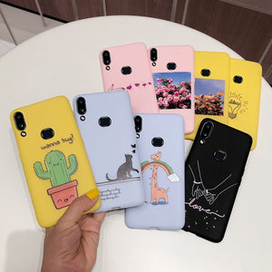 For Samsung Galaxy A10S A107 Case TPU Patterned back Bumper Phone Cover For Samsung A10S A 10s A107F SM-A107F Case Cover Fundas