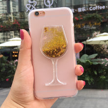Load image into Gallery viewer, 3D Quicksand wine glass Phone case for iphone11 PRO MAX XS MAX X XR Fashion cover for iphone 5 5S 6 6S 7 8 Plus FUNNDA