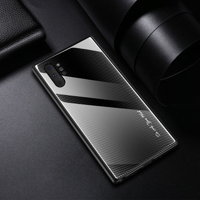 For Samsung Galaxy 10 Case Luxury Hard Tempered glass Gradient protective back cover case for samsung note 10 plus note10 pro