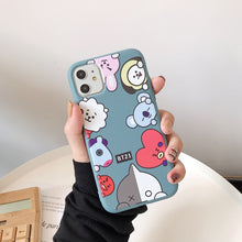 Load image into Gallery viewer, Ms Win Soft Silicone Cases For IPHONE11 pro X XS XR MAX 6 6s 7 8 plus Kpop Bangtan Boys Phone Holder Stand Cover Coque Funda