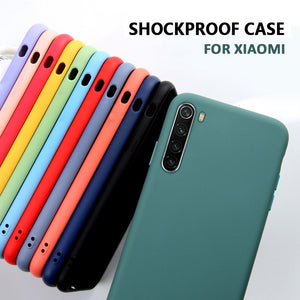 Liquid Silicone Phone Case For Xiaomi Mi Note 10 CC9 9 A3 lite CC9e Redmi 9t K30 7A 8A K20 Note 6 7 8 8t Soft Matte Case fumdas