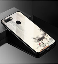 Load image into Gallery viewer, For OPPO A7 Case A5S Tempered Glass Phone Case Black TPU Bumper Cover for OPPO AX7 A5S AX5S A7 A 7 2018 OPPOA7 Glass Back Cover
