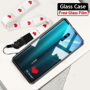For OPPO Reno Case Tempered Glass Cases transparent clear Silicone Bumper cover For OPPO Reno Reno Z 10x zoom Case Fundas Shell