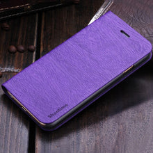 Load image into Gallery viewer, Wood grain PU Leather Phone Case For OPPO A3S Flip Book Case For OPPO A5 Business Wallet Case Soft Silicone Back Cover