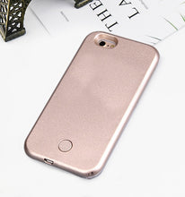 Load image into Gallery viewer, Luxury Luminous Phone Case For iPhone 6 6s 7 8 Plus X Perfect Selfie Light Up Glowing Case Cover for iPhone 5 5s SE Phone Bag