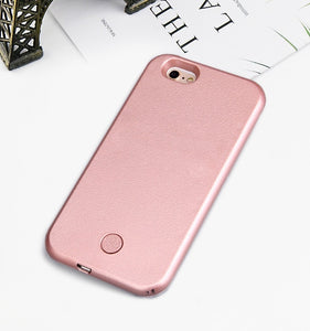 Luxury Luminous Phone Case For iPhone 6 6s 7 8 Plus X Perfect Selfie Light Up Glowing Case Cover for iPhone 5 5s SE Phone Bag