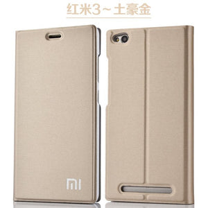 New Arrival For Xiaomi Redmi 3 /3S/3X, Luxury Slim Style Flip Leather Case For Xiaomi Redmi 3s Redmi 3x Redmi 3 Cover Bag
